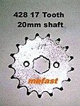 428 17 Tooth 20mm shaft