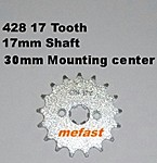 428 17 Tooth 17mm shaft
