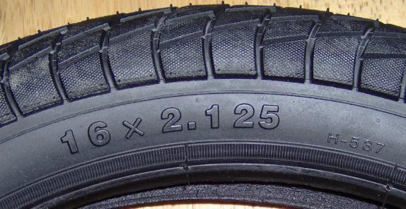 16 X 2.15 Tire