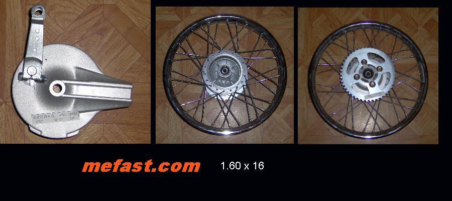 1.60 x 16 rear wheel
