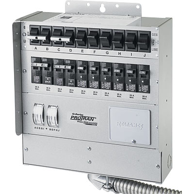 Reliance Transfer Switch 10 Circuit 50 Amp Model Q510c