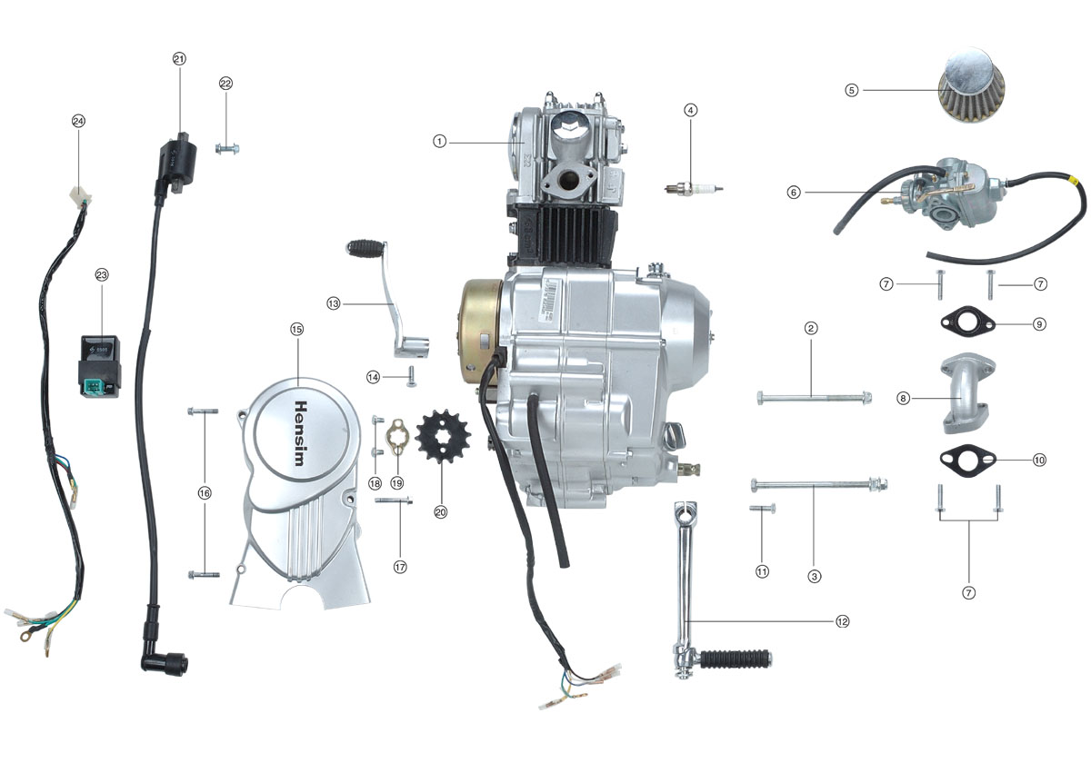110 Engine Schematic