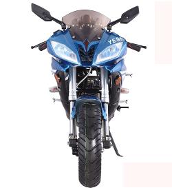 50cc                   Racer blue front view