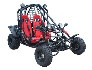150cc Go Kart Spider black and red