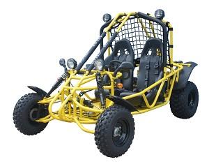 Yellow Go Kart Spider 150 Veloz