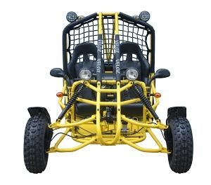 Veloz 150cc Go                 Kart Spider Front View Yellow
